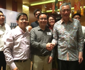Reception in honour of Singapore Prime Minister Mr. Lee Hsien Loong in Ho Chi Minh City