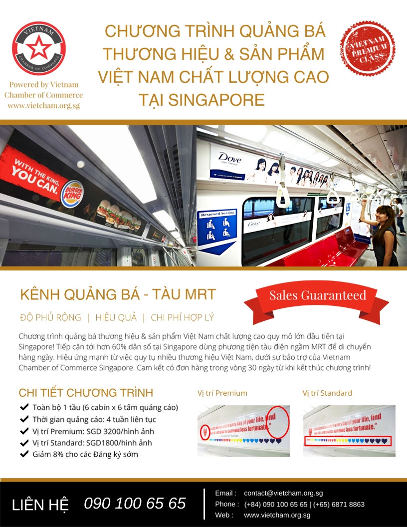Vietnam Premium Class - Support campaign to Vietnamese Brands in Singapore
