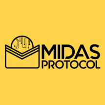 Midas Protocol full logo square (black on yellow)